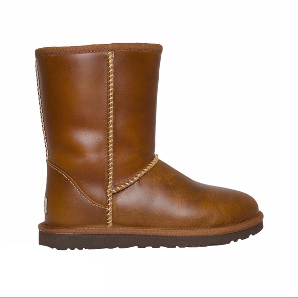 68bd6bc4f1c NWT UGG Classic Short Leather Chestnut Boots NWT